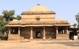 Dada Harir`s Tomb. Is situated near the mosque and the important Dada Harir Vav. Built in sandstone, the building houses several tombs draped in colourful cloth Royalty Free Stock Image