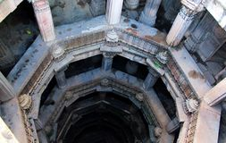Dada Harir Stepwell - Índia Gujarat foto de stock