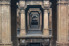 Dada Harir Stepwell. Was built in 1485 by Muslim king Sultan Bai Harir. A Sanskrit inscription at Dada Hari ni Vav says that the seven-storey step-well was Royalty Free Stock Photography