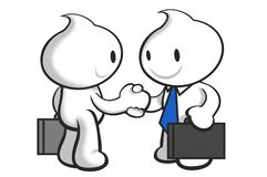 DaDa15. DaDa shaking hand with business partner Royalty Free Stock Photos