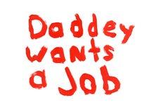 daddey工作符号希望 免版税图库摄影