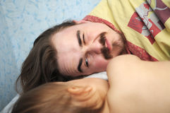 Daddy awaking Stock Image