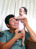 Daddy and baby Stock Image