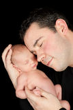 Daddy and baby Royalty Free Stock Image