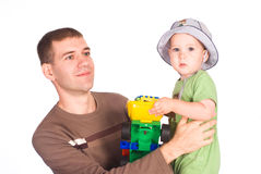 Daddy and baby Royalty Free Stock Photography