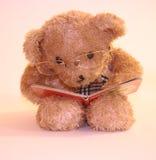 Daddy bear reading Stock Photo