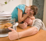The daddy and daughter. Stock Photography