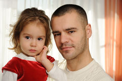Daddy with the daughter Royalty Free Stock Image
