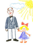 Daddy and daughter Royalty Free Stock Photography