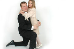 Daddy Daughter Dance. Father and daughter hugging in formal clothes wear. This is an image is from a father taking his daughter to the annual father and daughter royalty free stock images