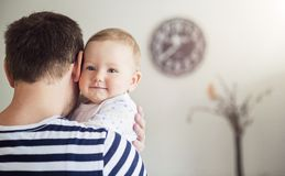 Daddy and daughter stock images
