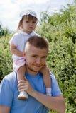 Daddy e figlia Immagini Stock Libere da Diritti