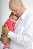 Daddy e figlia Fotografia Stock Libera da Diritti