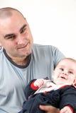 Daddy e figlio Immagine Stock