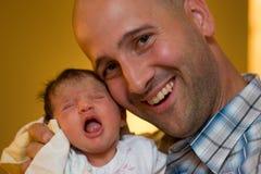 Daddy e nuova figlia Immagine Stock