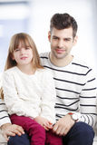 Daddy and his cute daughter Royalty Free Stock Image