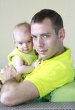 Daddy and his little baby girl Stock Image