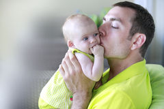 Daddy and his little baby girl Stock Photos