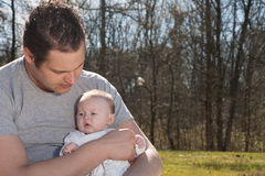 Daddy and his little girl Royalty Free Stock Images