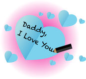 Daddy, i love you Royalty Free Stock Image