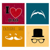Daddy icons Stock Photo