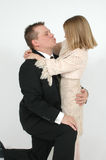 Daddy Kiss Royalty Free Stock Photos