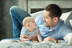 Daddy with little daughter Royalty Free Stock Photo