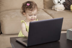 Daddy look, I can work like you do Stock Images