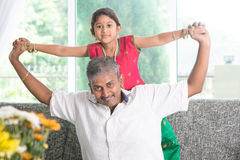 Daddy playing with daughter Royalty Free Stock Images