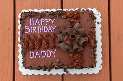 Daddy's birth day cake Stock Photos