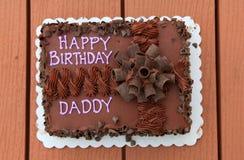 Daddy's birth day cake Stock Photos