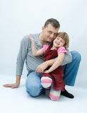 Daddy's girl Royalty Free Stock Images
