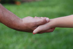 Daddy's Hand Royalty Free Stock Photo