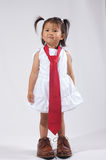 Daddy's little businessgirl. Daddy s little girl dressed up to go to daddys work Royalty Free Stock Images