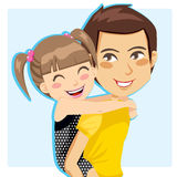 Daddy's Little Girl royalty free illustration