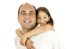 Daddy's little girl Stock Images