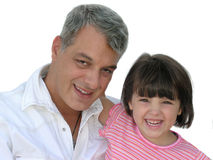 Daddy's little girl. Little girl with her father Stock Photo