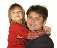 The daddy with the son Stock Photography