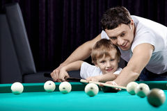 The daddy and the son Royalty Free Stock Photo
