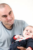 Daddy and son Stock Image