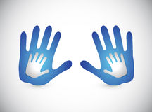 Daddy and son hands. illustration Royalty Free Stock Photos