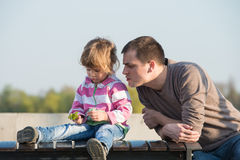 Daddy and young Royalty Free Stock Photos
