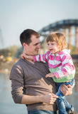 Daddy and young daughter Royalty Free Stock Images