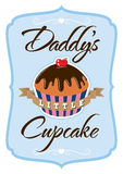Daddys Little Cupcake T-shirt. Illustration for a T-shirt showing a parents affection Stock Image