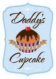 Daddys wenig T-Shirt des kleinen Kuchens Stockbild