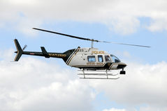 Dade County, Miami police helicopter Royalty Free Stock Photography