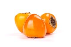 Dadelpruimfruit op witte achtergrond Stock Afbeelding