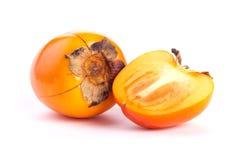 Dadelpruimfruit op witte achtergrond Royalty-vrije Stock Foto's