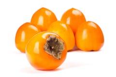 Dadelpruimfruit op witte achtergrond Royalty-vrije Stock Afbeeldingen