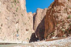 Dades峡谷在阿特拉斯山脉 库存照片